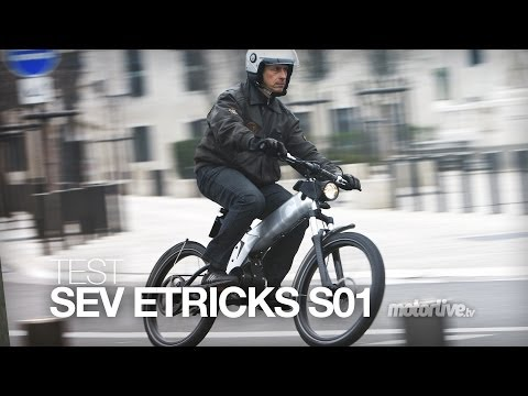 TEST   SEV etricks S01 : moto ? vélo ? électrique !