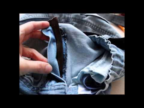 Как заменить застежку молнию на брюках или джинсах - SNAPTUBE - Video YouTube