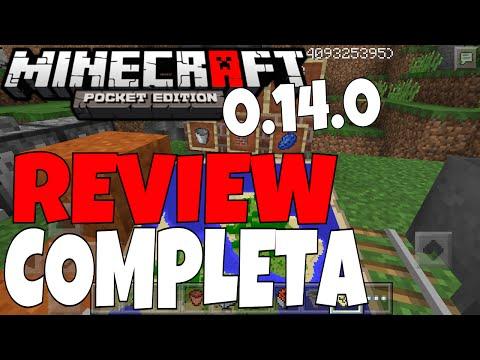 REVIEW COMPLETA: Minecraft PE 0.14.0 | Tudo Que Mudou!!
