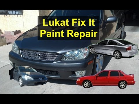 How to clean. repair. restore your car paint with Lukat Fix It auto paint cleaner. - VOTD