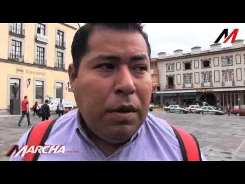 Taxistas de Poza Rica piden destitución de Roberto López Santoyo