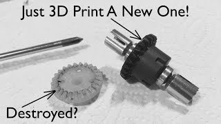 How To Repair Your RC Car Gears Using 3D Printed Gears: WLtoys 20402