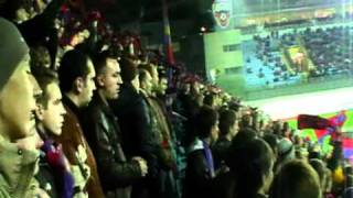 Fans in the stadium CSKA Moscow