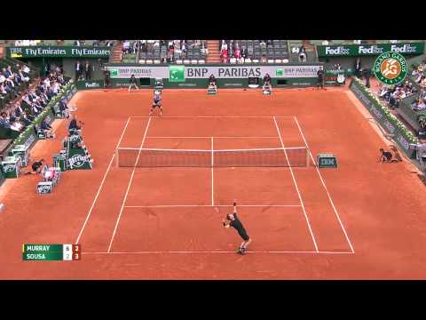 A. Murray v. J. Sousa 2015 French Open Men's R64 Highlights