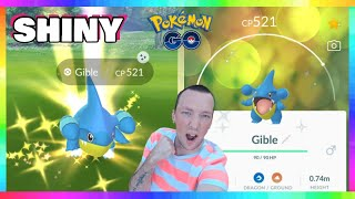 ANOTHER SHINY GIBLE CAUGHT IN POKEMON GO! WAS SUPPOSED to Be a TEST STREAM!