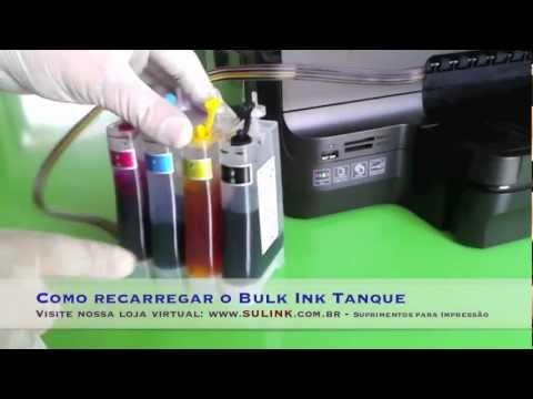Como recarregar o Bulk Ink Tanque instalado HP PRO 8100 / 8600 / 251DW / 276
