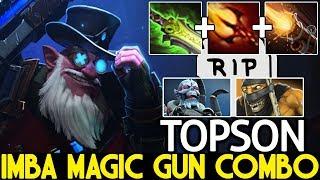 TOPSON [Sniper] Imba Magic Gun Combo One Shot Kill 7.21 Dota 2