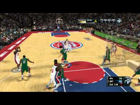 NBA 2K11 My Player - Bucks vs Pistons