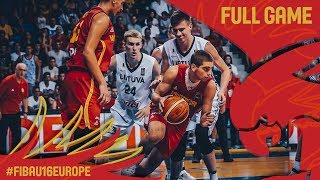 Литва до 16 : Черногория до 16