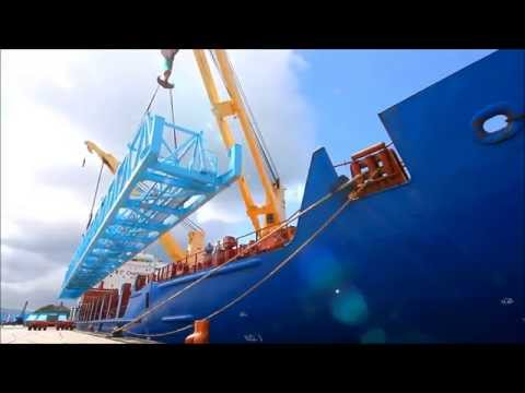Liebherr - Ship-to-Shore Crane (STS) Beam Transport and Shipping