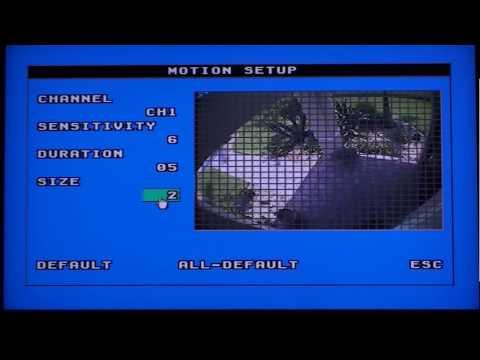 Surveillance DVR Motion Detection Recording Setup