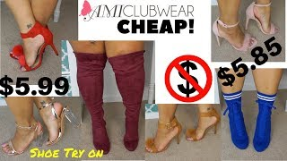 Inexpensive Shoe Try on Featuring: AMI Clubwear!!
