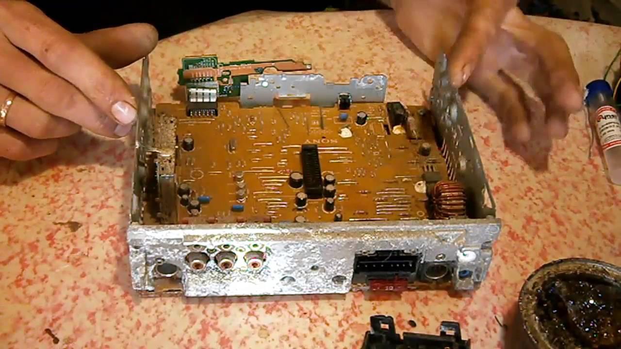 Ремонт дисплея автомагнитолы своими руками 3