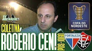 [Copa NE '19] Coletiva Rogério Ceni | Rádio | Pós-jogo Fortaleza EC 4 X 0 EC Vitória | TV ARTILHEIRO
