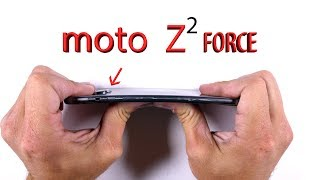 Moto Z2 FORCE Durability Test - Scratch and Bend Test!