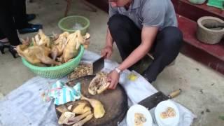 Cách chặt thịt gà đẹp mà không bị nát