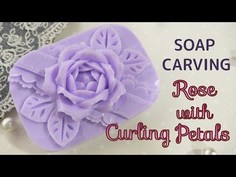 SOAP CARVING | Rose with curling petals | KURURIN-Rose | How to
