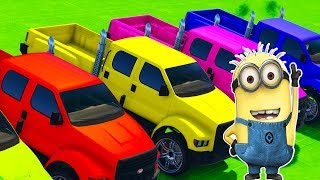 Colors for Children to Learn with Minions Cartoons about cars Song for Kids Learn Colors
