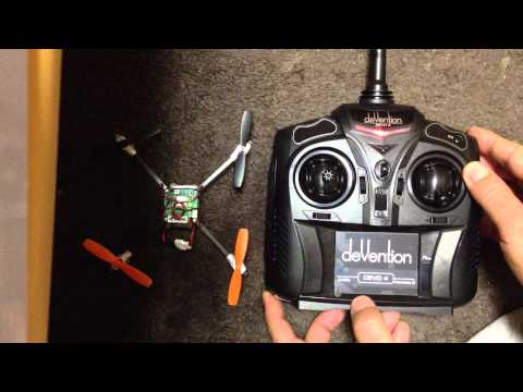 Walkera DEVO 4 with QR Ladybird V2 Flight Mode Quick change