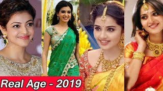TOP SOUTH INDIAN ACTRESS REAL AGE LIST |Telugu Heroines Real Age | Samantha ,Anushka Shetty,Kajal