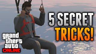 GTA 5 Online Tricks - 5 Secret Tricks Online! Roll Down Car Windows, Glide Forever & More!