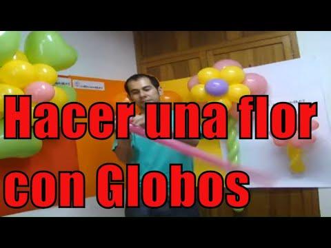 Como hacer una flor con globos youtube - Hacer munecos con globos ...