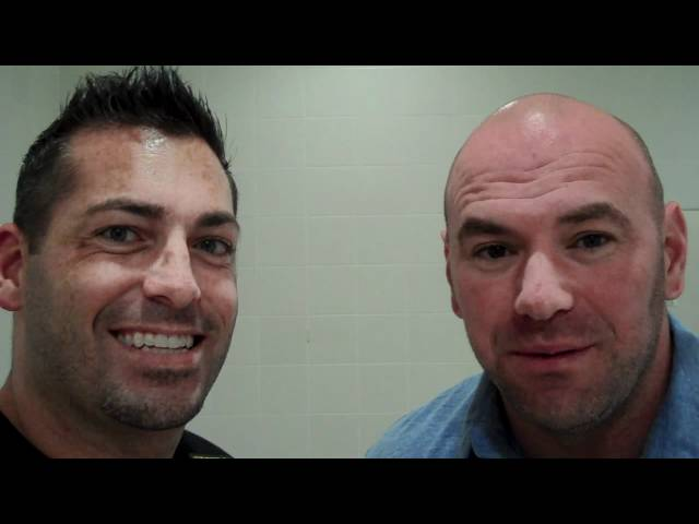 UFC's Dana White and AMA Fight Club Manager Mike Constantino