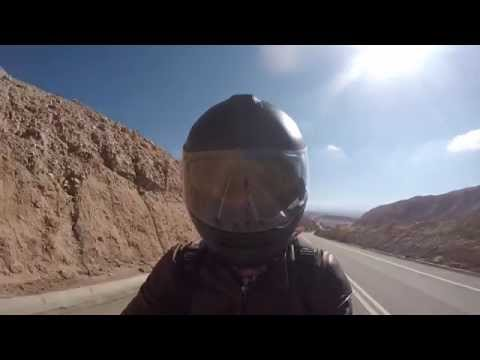 Hitting the desert in northern Chile on my oldtimer Guzzi