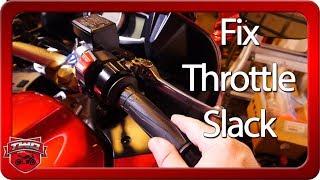 How To Adjust Motorcycle Throttle Slack