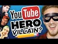 Drawing YOUTUBERS as HEROES and VILLAINS!