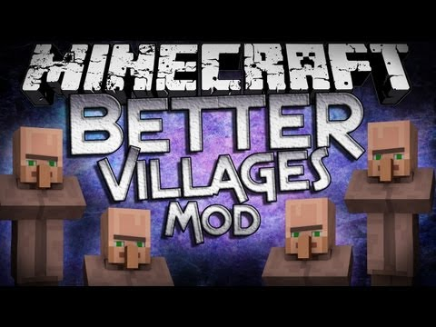 Minecraft Mod Showcase: Better Villages Mod - Cleaner and More...