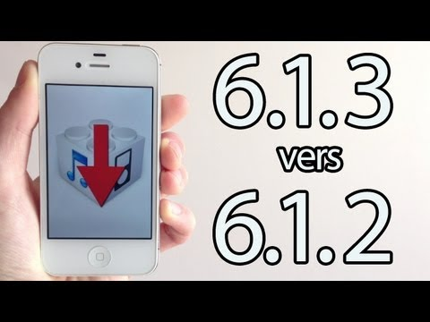 Downgrade iOS 6.1.3 / 6.1.5 vers iOS 6.1.2 pour iPhone et iPod touch