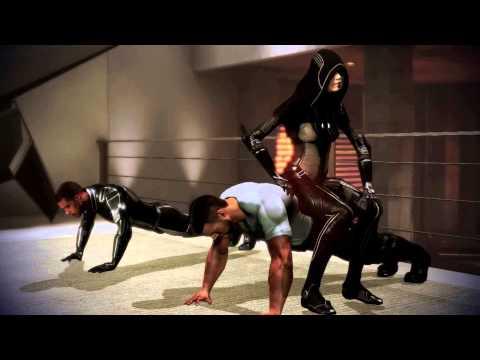 Mass Effect 3 Citadel DLC: Vega vs Jacob (Push Up Contest)