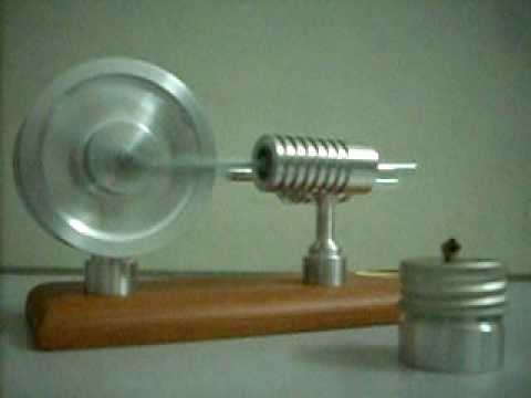 JA 1022 ~ Twin Flywheel Hot Air Motor Stirling Engine-moteur de stirling