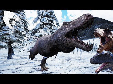 The Isle Modded SNOW BIOME First Look/ NEW REX & GIGA MODELS VIDEOS! Gameplay
