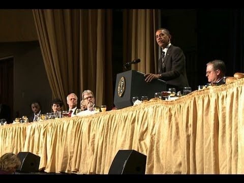 President Obama at the 2012 National Prayer Breakfast