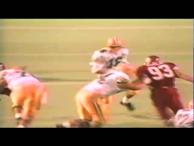 Oregon QB Danny O'neil 10 yard run vs. Utah 9-21-1991