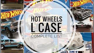 Hot Wheels 2019 L Case Showcase Complete List