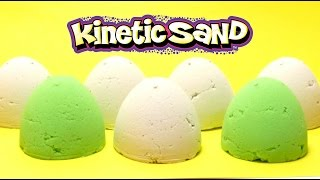 Kinetic Magic Sand Eggs with Surprise Toys - SpongeBob & Animals