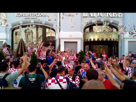 Croatia fans in Moscow. July 11, 2018 thumbnail