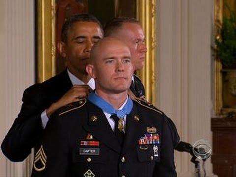 Obama awards Medal of Honor to Army Staff Sgt. Ty Carter