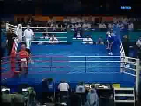 Amir Khan v Stilianov Part 1 2004 Olympics
