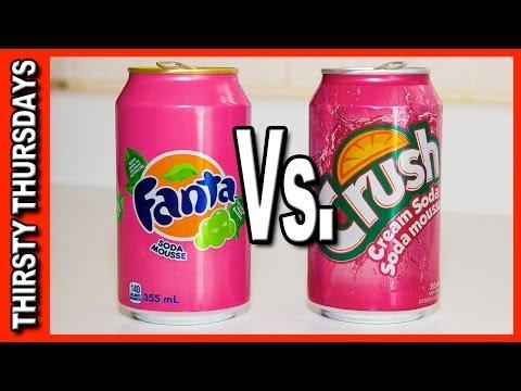 Cream Soda Drink Off Challenge ★ Fanta Vs Crush - Thirsty Thursdays