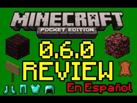 Minecraft Pocket Edition: 0.6.0 Review En Español!