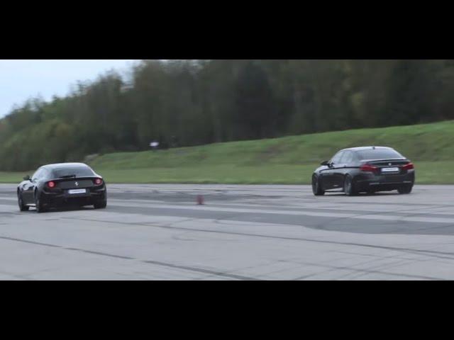 Ferrari FF vs BMW M5 F10 - YouTube