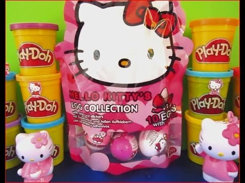 Hello Kitty Play Doh Kinder Surprise Eggs Hello Kitty Hello Kitty video