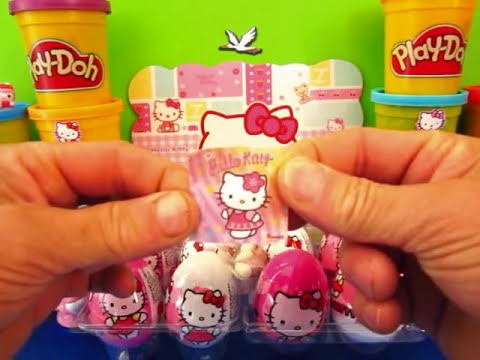 HELLO KITTY PLAY DOH Kinder Surprise Eggs Hello Kitty hello kitty