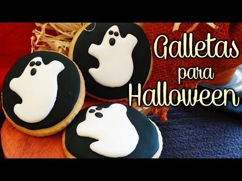 Galletas para halloween decoradas con glasa real