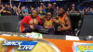 The New Day rock their own announce table as The Bar battle The Usos on SmackDown LIVE: Aug. 1, 2018
