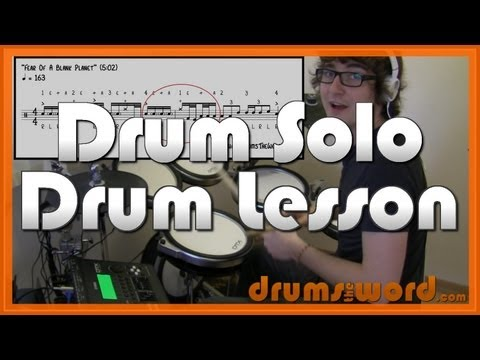 ★ Fear Of A Blank Planet ★ Drum Lesson | How To Play Drum Fill & Solo (Gavin Harrison)